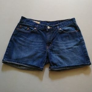Red Engine Jean Shorts